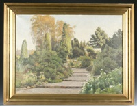 landscape of a garden with stairs by frederick-georg andersen