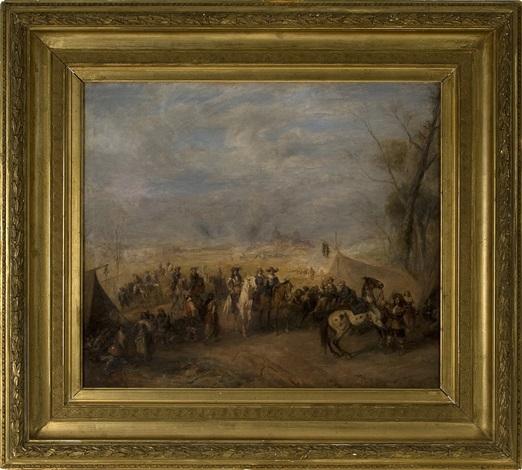 a scene of the thirty years war by alfred ritter von malheim friedländer