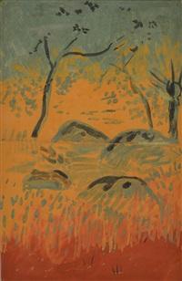 rocher en forêt by paul sérusier