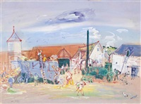 les battages by jean dufy