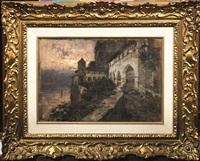 santa caterina del sasso, lago maggiore by eugenio gignous