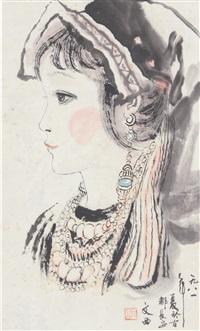 小金花 轴 纸本 by liu wenxi
