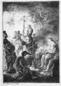 die anbetung der hirten (+ die anbetung der könige; 2 works) by johann evangelist holzer