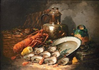 nature morte au homard by laurence