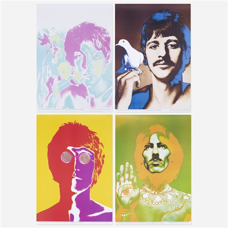beatles posters (set of four) by richard avedon
