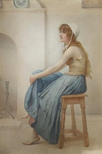 fireside reverie by henry ryland