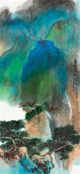 巫峡高秋 镜心 设色纸本 by xie zhiliu