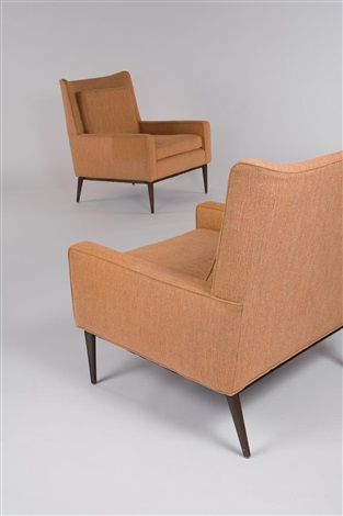 Pair Of High Back Lounge Chairs Model No. 1312 By Paul ...