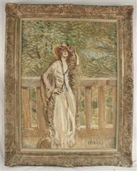 woman in garden by lajos márk