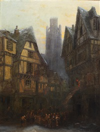 rue damiette, rouen, st. ouen in background by sydney herbert