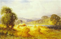 harvest time, aber, north wales by henry bodge pennell
