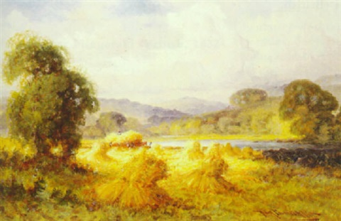 harvest time aber north wales by henry bodge pennell