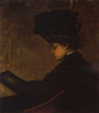 porträt der baronin de miéville de rossens by ernst erwin rath