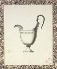 design for a jug with a ram's head handle by jean guillaume moitte