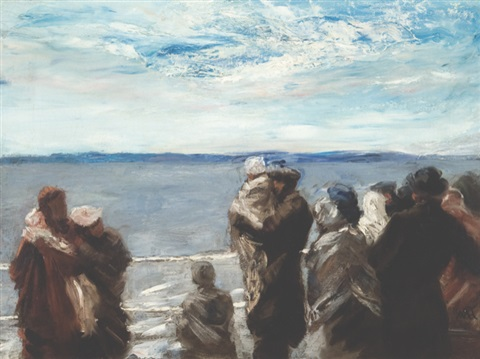 the promised land the ferry to appledore by william morris hunt