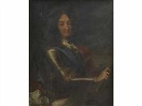 portrait du roi louis xiv en armure by jean ranc