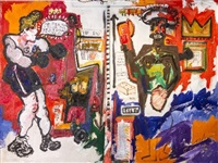 the two boxers by horacio cordero and jean-michel basquiat