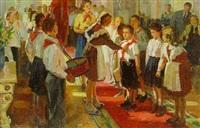 appointing pioneers by viktor aleksandrovich tsvetkov