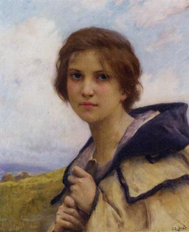 jeune fille à la rose by charles amable lenoir