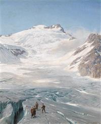 am gletscher by alfred (wilhelm) metzener
