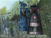 giants in the gardens of peyrevert (france) by kees andrea