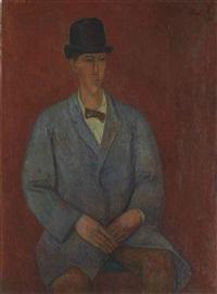 portrait d'un americain by rené (victor) auberjonois