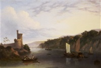 on the river lee, below blackrock castle by george atkinson