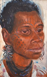 woman from angoram sepik river by margaret hannah olley