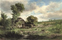 a country idyll by johannes warnardus bilders