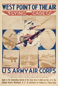 west point of the air/flying cadets by posters: world war i & ii