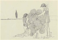 bush and two girls (+ phillis; 2 works) by mary newbery sturrock
