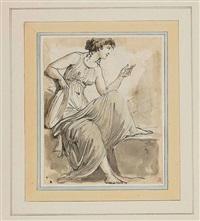 figura in cinque punti di vestale con tamburello by carlo labruzzi