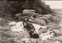 the sleeping shepherdess by francois peyret