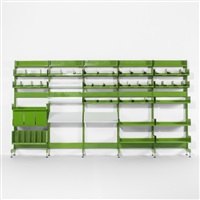 shelving system from the administrative offices at the centre georges pompidou (set of 6) by michel cadestin and georges laurent