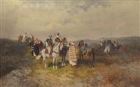 araber auf recognoscirung by alexander ritter von bensa