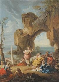 le concert au bord de la mer by ramon bayeu y subias