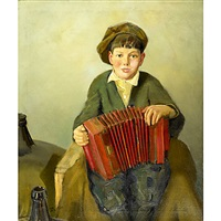 boy with concertina by donald blagge barton