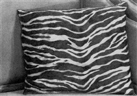 black and white pillow by catherine murphy