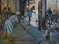 washing the floor by sylvia clark molloy