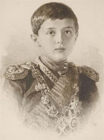 portrait du tsarévitch alexis nicolaïévitch de russie 1904 1918 by mikhail rundaltsov