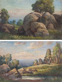 early morning kalamunda (+ kalamunda hills, 2 works) by gordon holdsworth