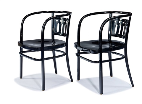 Bon Café Table And Two Chairs (3) By Otto Wagner
