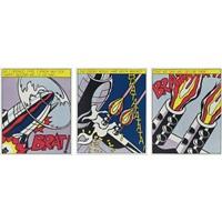each 24 x 19 5/8 inches; 610 x 498 mm (set of 3) by roy lichtenstein