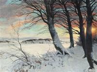 a winter landscape by hans mortensen agersnap