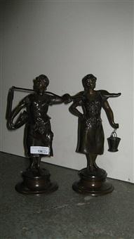 de waterdraagster (+ de hooister; pair) by alphonse henry nelson