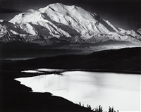 mount mckinley and wonder lake, mount mckinley national park, alaska by ansel adams
