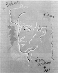 jean cocteau autoportrait 1956