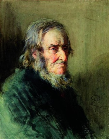 portrait dhomme barbu by robert herdman