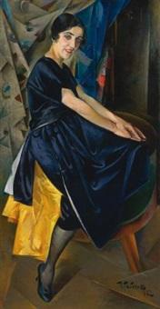 portrait of maria volkova by isaac benich rabichev