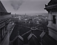 the executive chamber before restoration (+ looking north from the roof of the state capital; 2 works) by william clift